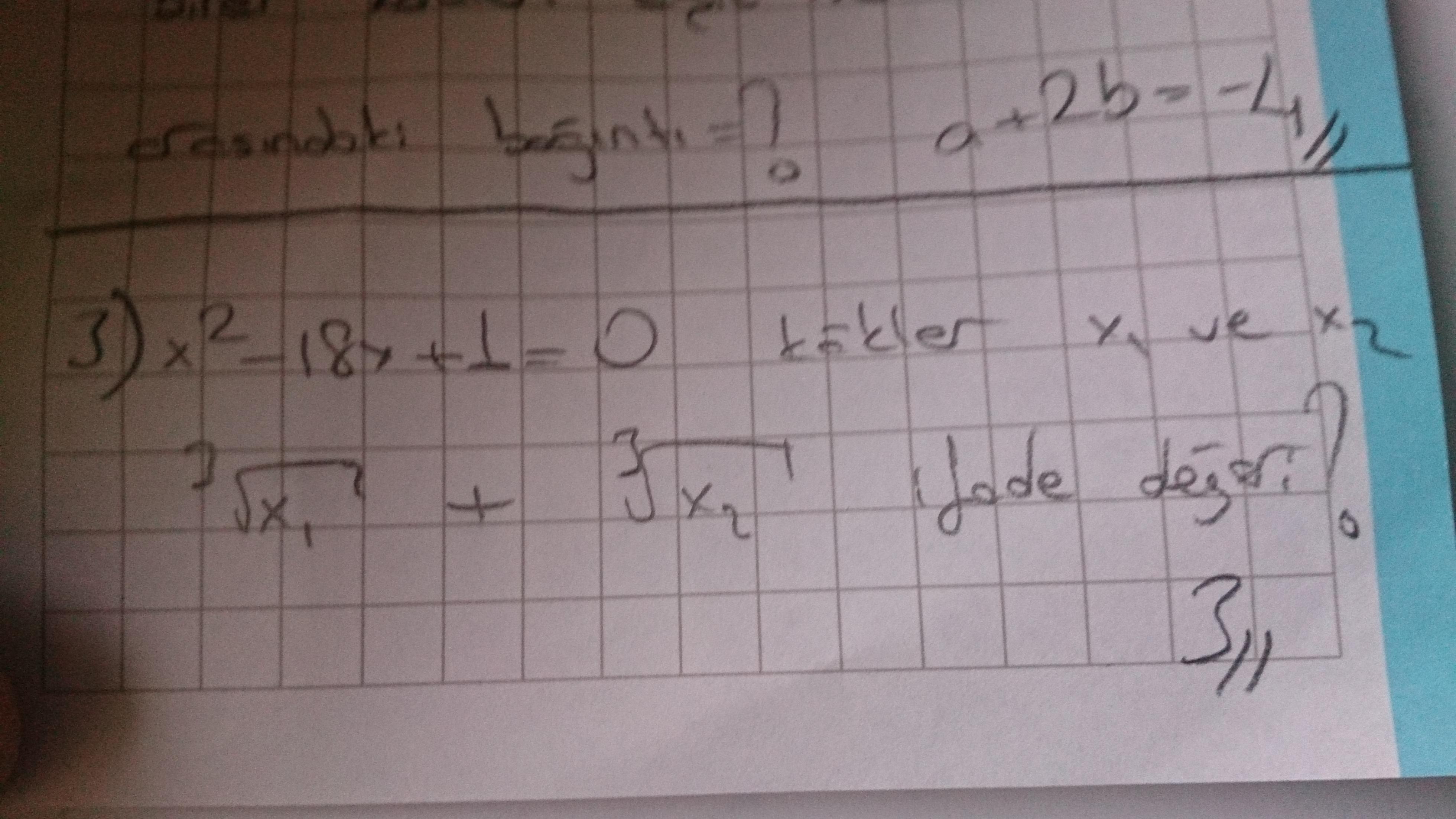 2. derece denklem