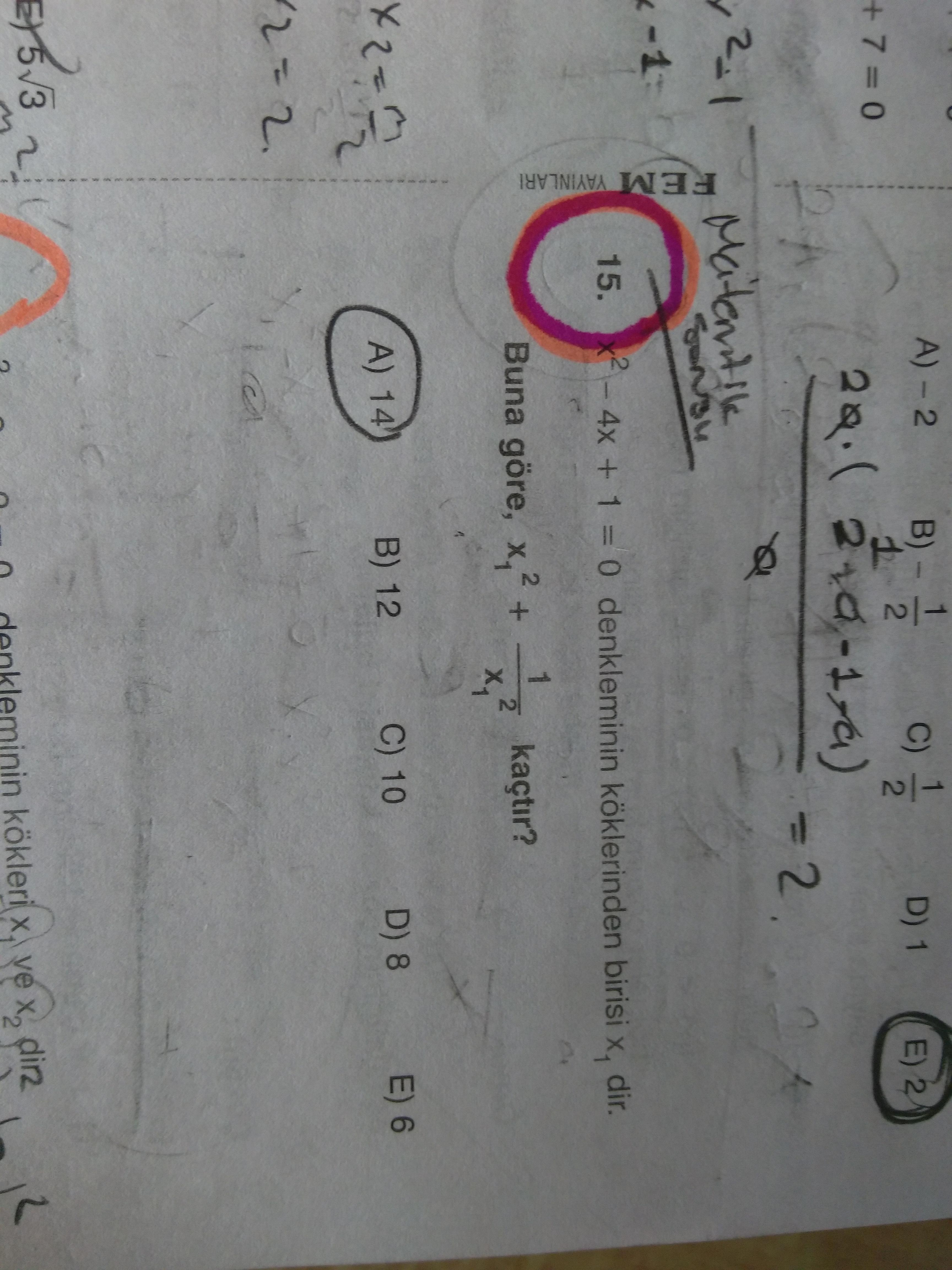 2.derece denklem (cvp=14)