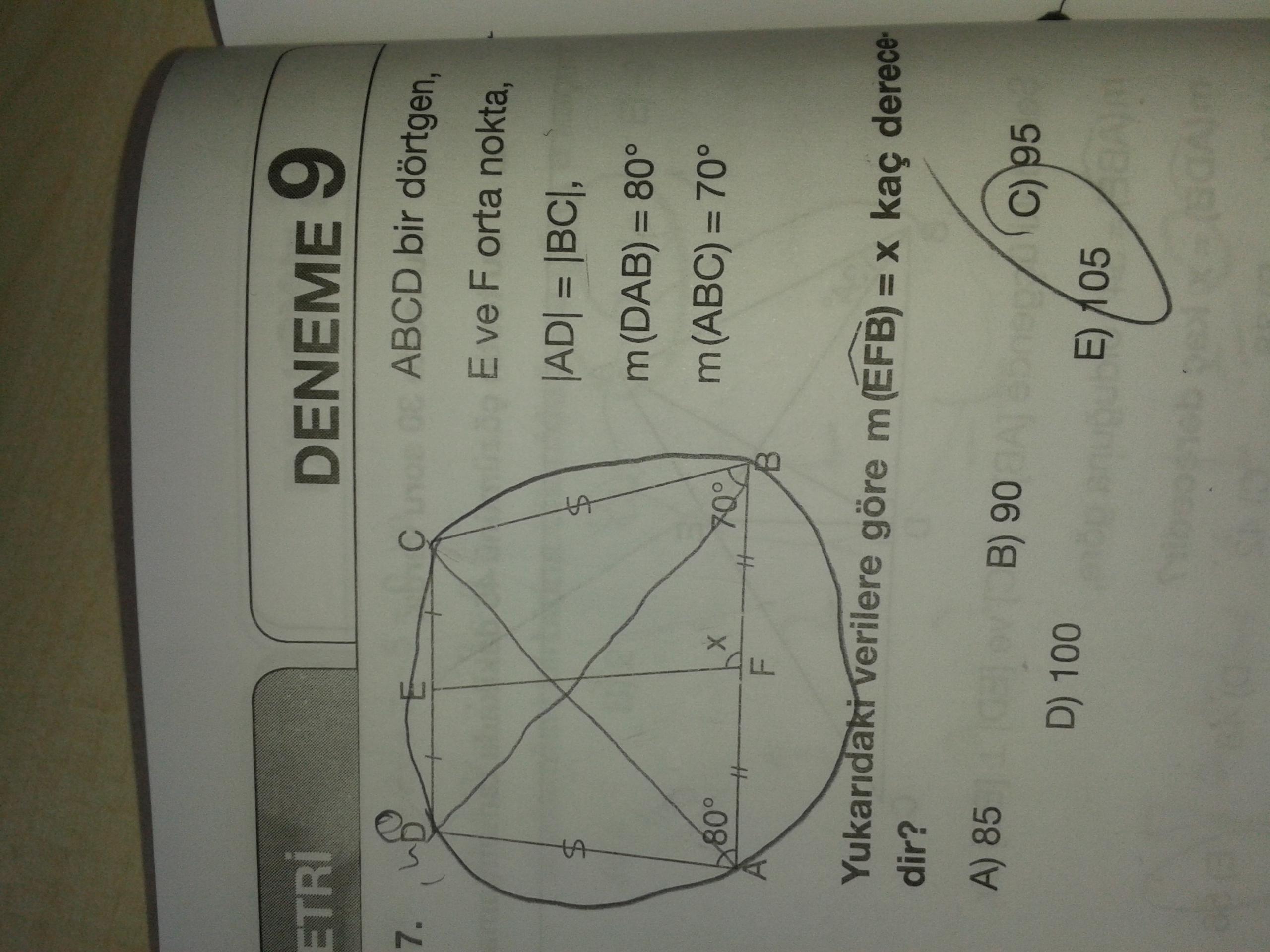 Geometri (95)(soruyu temiz yollayiniz)
