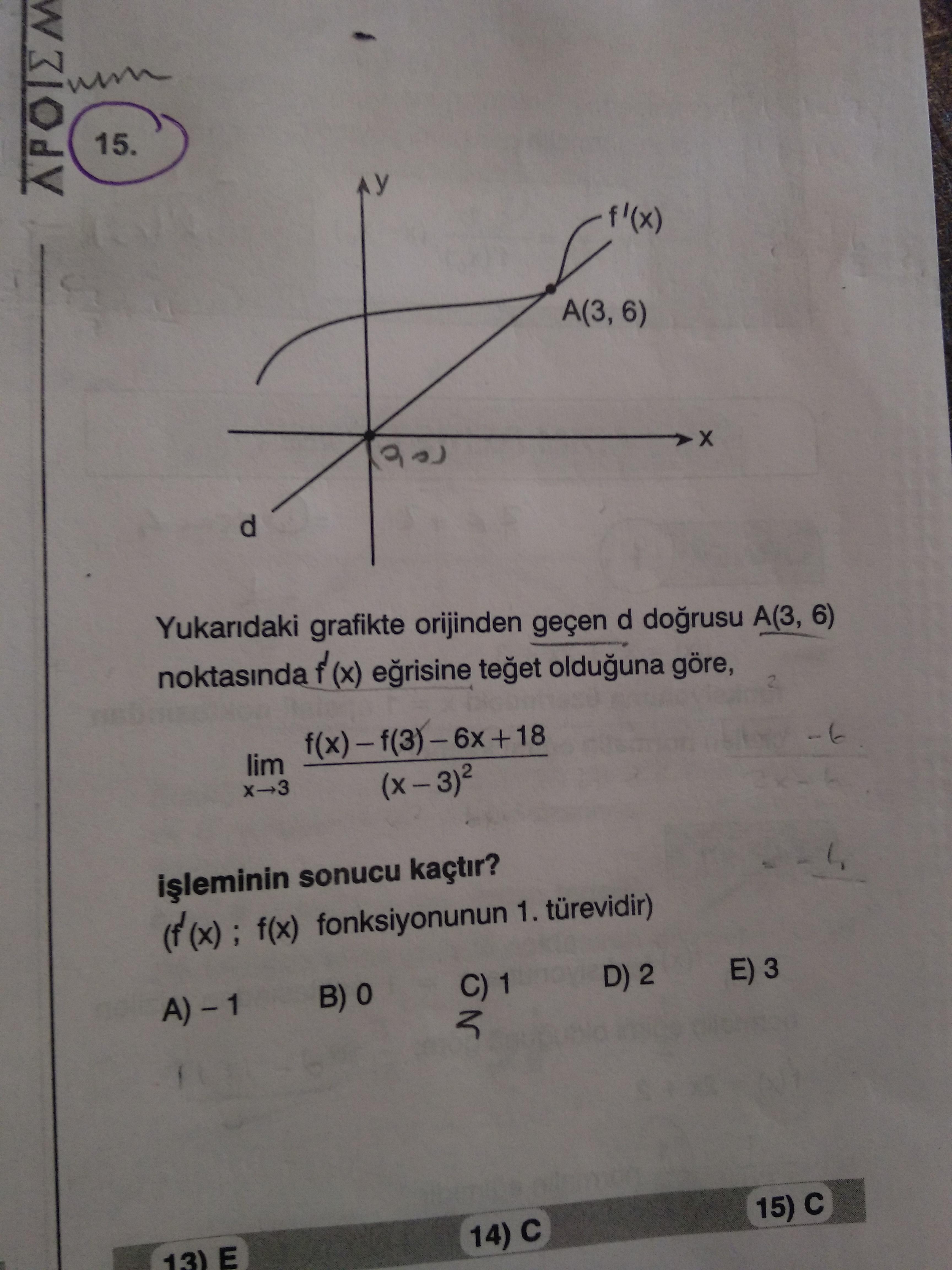 Türev (geometrik yorum)