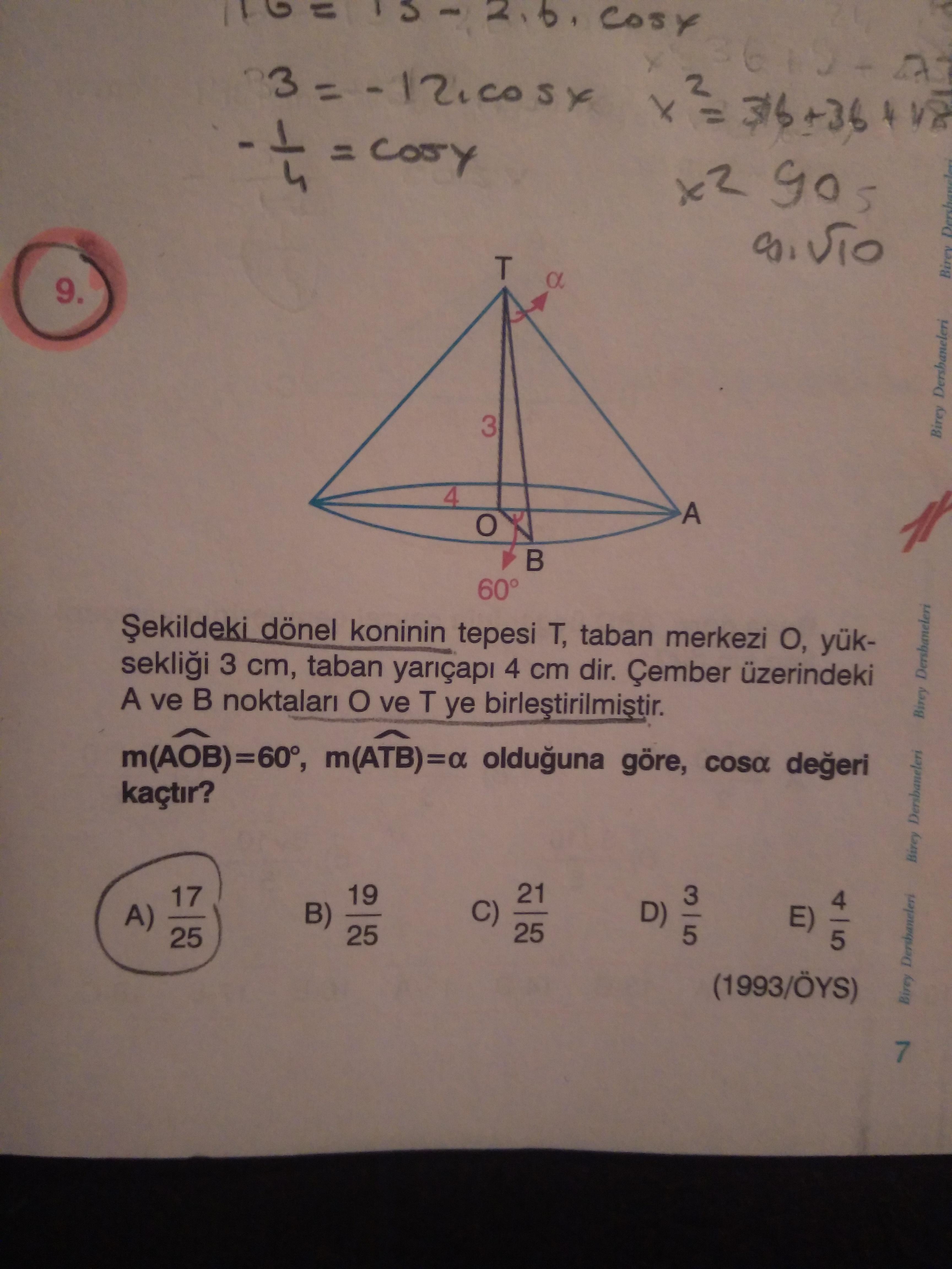 trigonometri  (kosinüs)