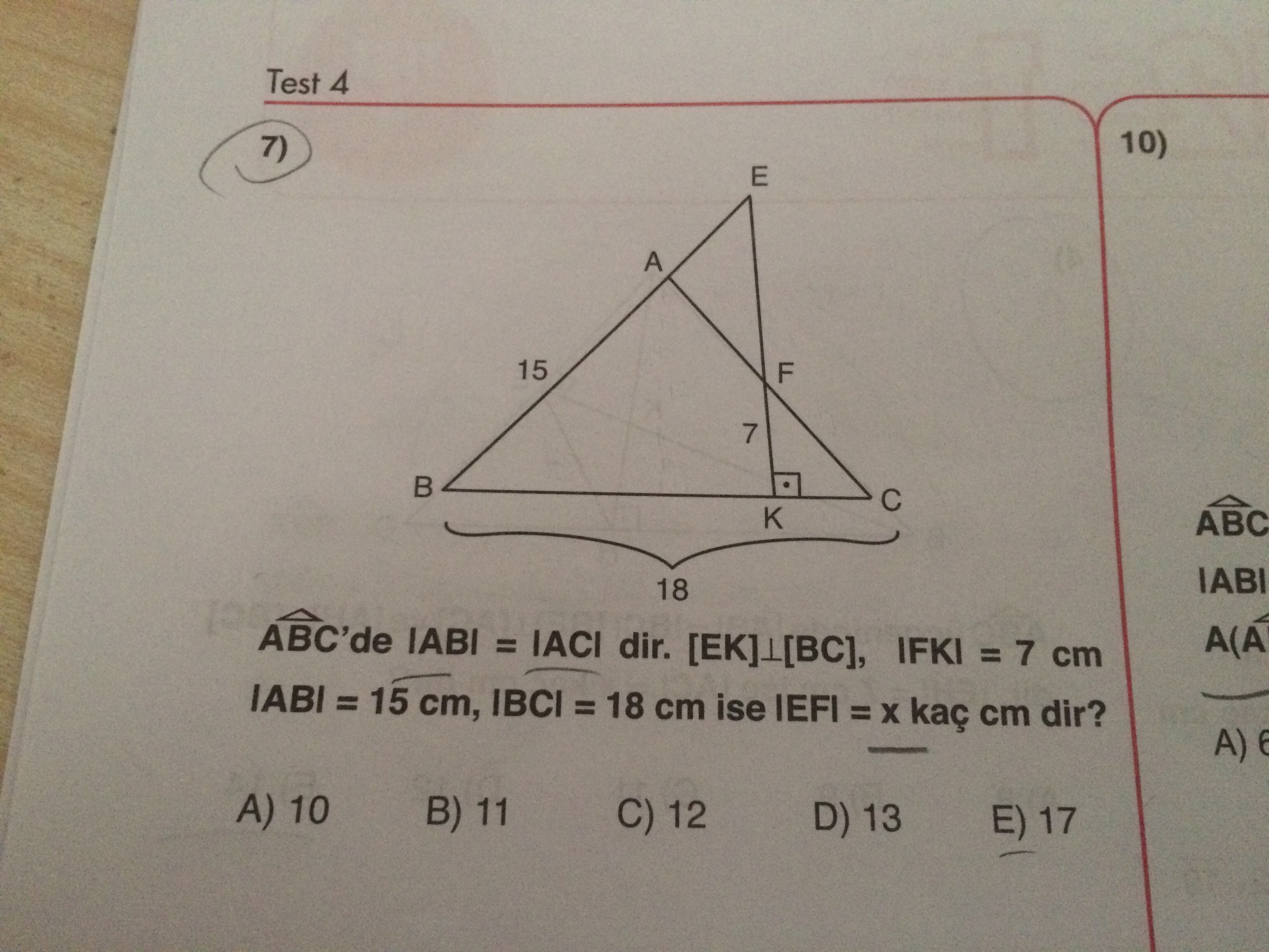 ikizkenar üçgen